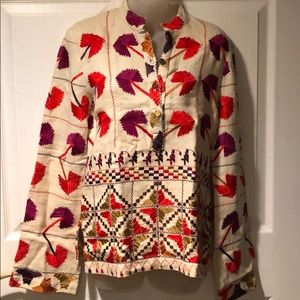 Tory Burch Embroidered Pokhara Henley Tunic 6